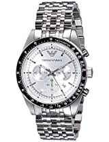 Emporio Armani Tazio Analog Silver Dial Men's Watch - AR6073