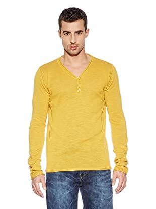 Cross Jeans Camiseta Casual (Mostaza)