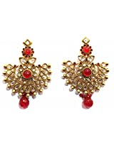 Shingar Ksvk Jewels Antique Polki Earrings danglers For Women (9456-pe-red)