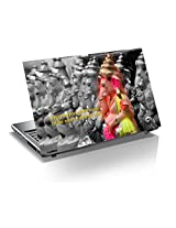 "Monika Creations Ganesha Art with Shalok 15.6 inch Laptop Skin, Fits for 13.3"", 14"", 15"", 15.6"", 16"" Screen(BUY 2 AND GET 1 FREE)"