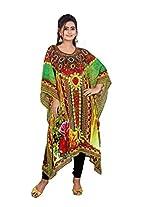 7 Colors Lifestyle Womens Georgette Kaftan (Aat7010Kfv1L _Multi-Coloured _Large)