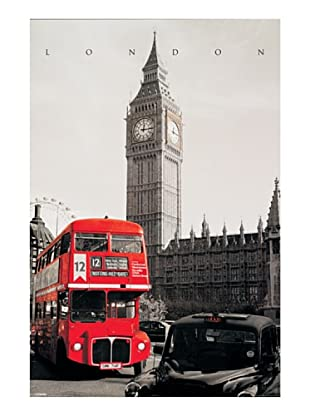 ArtopWeb Panel de Madera London London Westminster 90x60 cm