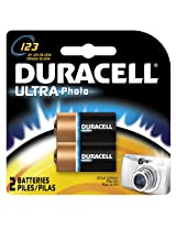 Duracell Ultra 123 3-Volt Camera Batteries 2-Count Packages (Pack of 2)