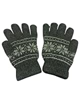 Graceway Unisex Woollen Gloves (GL7, Light Grey, Free Size)