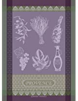 Garnier Thiebaut 100% two-ply twisted cotton Provence Lavande Kitchen Towel, 22 by 30-Inch, Lilac, Made in France
