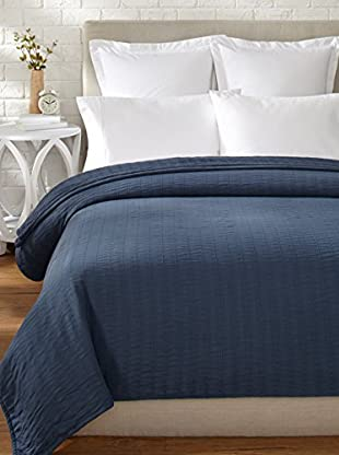 Belle Époque Relaxed Rows Blanket (Navy)