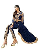 Isha Enterprise Georgette Anarkali Suit(ST-1003_Blue)