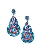 Pretty WomenMulti Color Drop Shape Earring (PWER126)