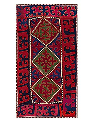 nuLOOM One-of-a-Kind Hand Crafted Shydrak Felted Tribal Rug, Royal Blue, 5' 1