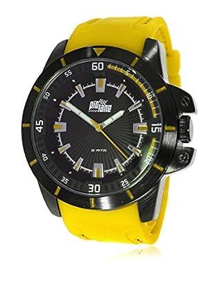 Pit Lane Uhr mit Miyota Uhrwerk Pl-2002-1 senf 45 mm