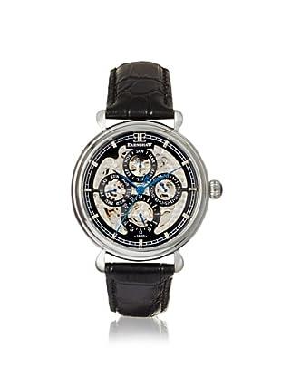 Earnshaw Men's 8043-01 Grand Calendar Black Stainless Steel Watch