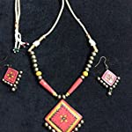 Red lotus store handcrafted terracotta jewellery