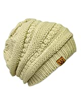 Wrapables Knitted Slouchy Beanie Beret, Cream, Cream