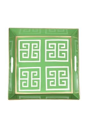 Jayes Greek Key Green Bedside Tray