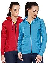 Softwear Womens Denim Hoodies Pack of 2