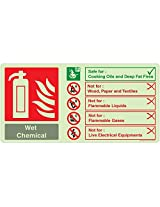 WET CHEMICAL Do's & Don'ts, (NG305-2142NGR-01), Material: NightGlo Rigid