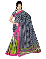 Bhagalpuri Silk Printed Grey Bollywood Saree - VMS80053