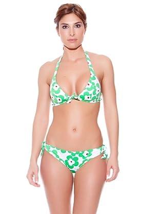 Teleno Bikini Triángulo Escote Halter (Verde)