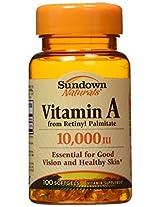 Vitamin A 10000 I.U. Vitamin Supplements Softgels, By Sundown - 100 Softgels