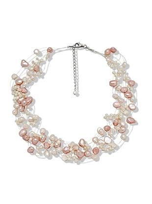 Valero Pearls 60200102 - Collar de mujer de plata con perla cultivada de agua dulce, 48 cm