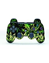 """Tqs"""" Leather Texture Surface Designer Skin Sticker Decal For Playstation 3 Remote Controller Weeds Black, Model: , Electronics & Accessories Store"""