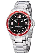 "Stuhrling Original Men's 593.332TT11 ""Aquadiver Grand Regatta"" Diver Watch with Stainless Steel Link Bracelet"