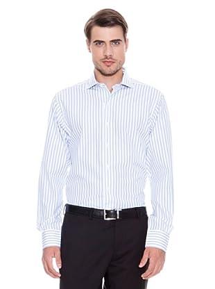 Brooks Brothers Camisa Vestir Kanis (Celeste / Marino)