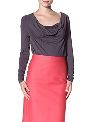 Cullen Women's Drape Neck Top (Steel Grey)