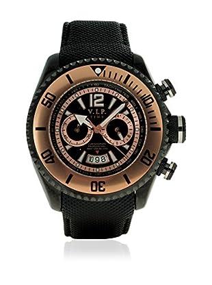 Vip Time Italy Uhr mit Japanischem Quarzuhrwerk VP5009BK_BK schwarz 50.00  mm