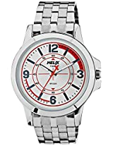 Helix Analog White Dial Men's Watch - TW023HG03