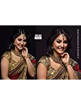 Bollywood Replica Hina Khan 60 Gram Georgette Saree In Red And Gold Colour Nc551