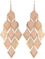Coral by POKA Non-Precious Metal Gold Dangle & Drop Earrings for Women (Poka_J_134)