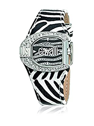 Just Cavalli Quarzuhr Woman Jc Logo weiß/schwarz 29x36 mm