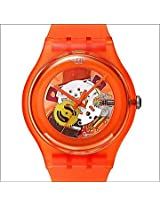 Swatch Orange Silicon Analog Men Watch SUOO100