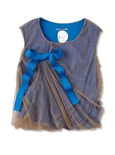 kicokids Girl's Sleeveless Tulle Top (Khaki)