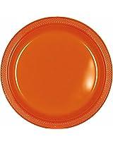"9"" Plastic Plate PLATE 20 CT-ORANGE"