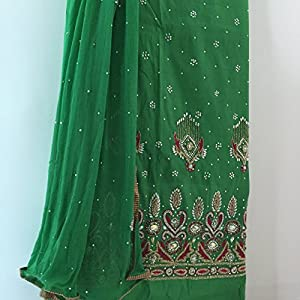 Fashioniista Punjabi Kudi Green - Dress Material