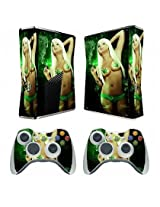 Sex Babe Vinyl Decal Skin Sticker For Xbox360 Slim With 2 Controller Skins
