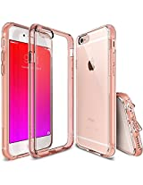 iPhone 6S / 6 Case, Ringke® [Fusion] CLEAR PROTECTION [Rose Gold Crystal] Shock-Absorption TPU Bumper Anti-Scratch Clear PC Back Dust Cap Case + Free Screen Protector for Apple iPhone 6S / 6 2015/2014