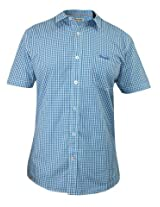 Wrangler Blue Checks Semi Formal Shirt