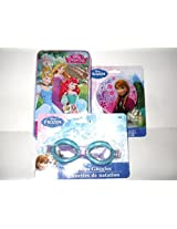 Disney Princess Sweet Dreams GIFT SET !! (Frozen Bathtub Goggles, Princess Dominoes & Elsa Night Light)