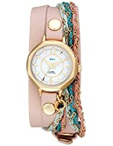 La Mer Collections Women's LMDEL1005 Sydney Friendship Bracelet Nude Analog Display Quartz Champagne Watch