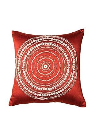 Bandhini Homewear Design Bulls Eye Throw Pillow, Red/White