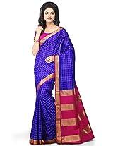 Utsav Fashion Women's Royal Blue Pure Mysore Silk Saree with Blouse