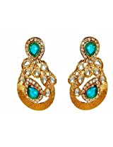 Kshitij Jewels Blue Metal Dangle & Drop Earrings For Women (KJ 248)