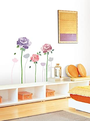 Ambiance Live Vinilo Adhesivo Rose Flowers Wall Decals