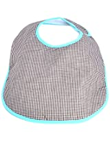 Infantissima Toddler Bib, Gingham Brown/Aqua