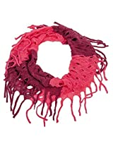 Open Knit Infinity Scarf (Pink)