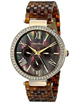 Caravelle New York  Crystal Analog Brown Dial Women's Watch - 44N102