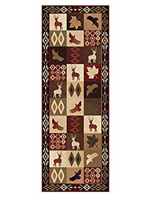 Universal Rugs Nature Lodge Runner, Multi, 3' x 8'